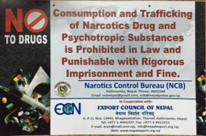 Certificate of no drugs in Nepal