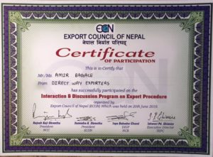 Direct Way Exporters Certificate of Customs Course